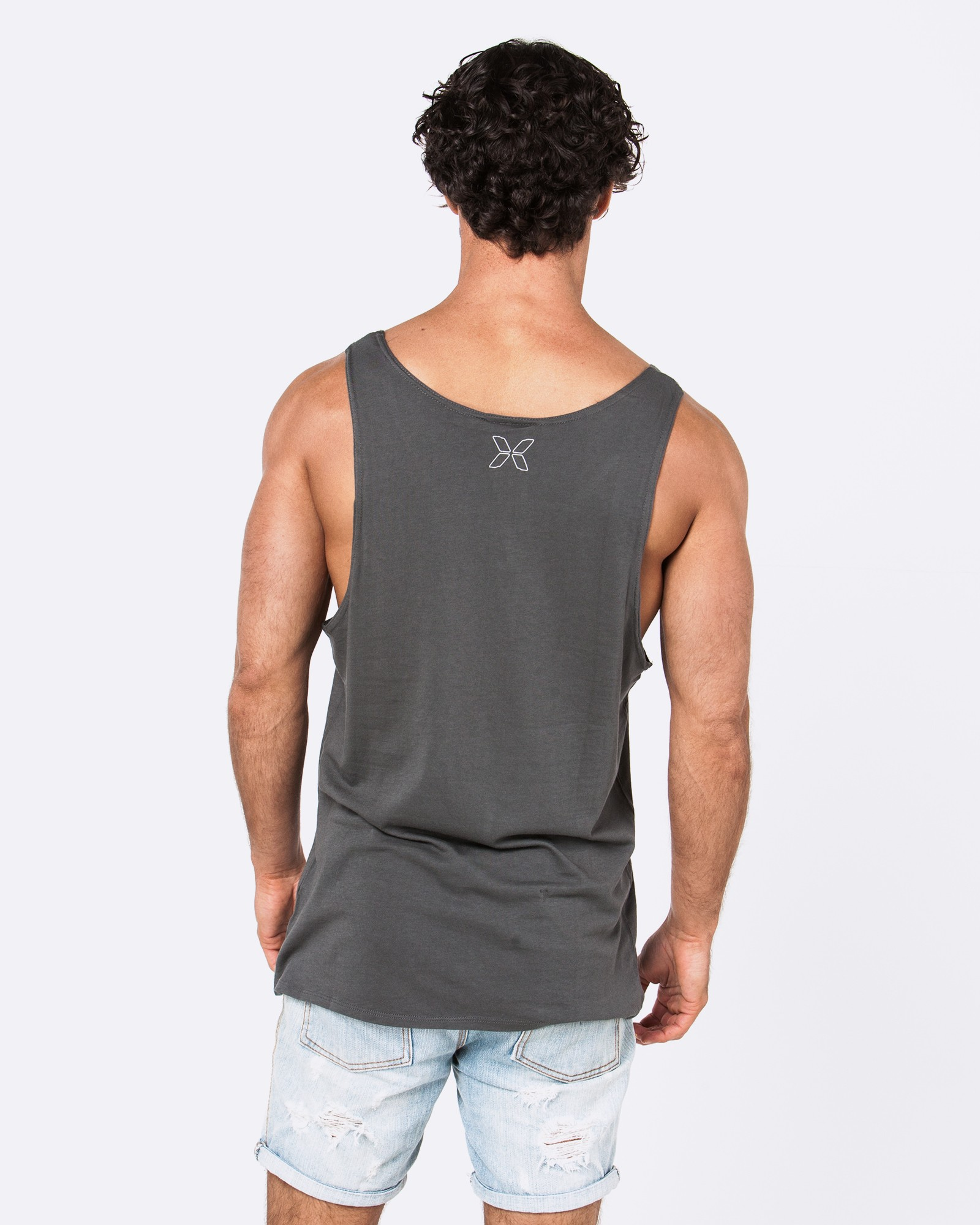 HEAVEN SENT DARK GREY SINGLET