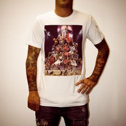 CARTOON JORDANS WHITE TEE