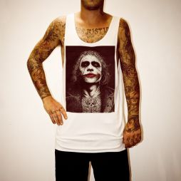 WAYNES HEATH LEDGER WHITE SINGLET