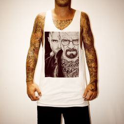 WAYNES BREAKING BAD WHITE SINGLET