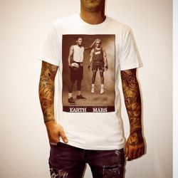JORDAN AND SPIKE LEE WHITE TEE