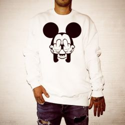 MICKEY FINGERS WHITE CREW