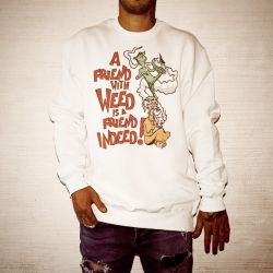 FRIENDS WITH WEED WHITE CREW