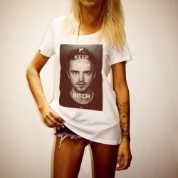 PINKMAN BITCH WOMENS WHITE T-SHIRT