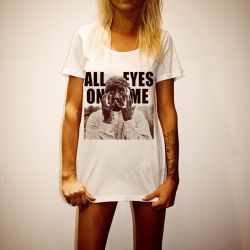 ALL EYES ON ME WOMENS WHITE T-SHIRT