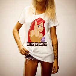 ARIEL BITCH WOMENS WHITE TEE