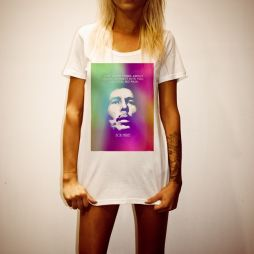 HAZED OUT WOMENS WHITE TEE