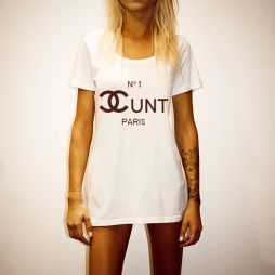 COCOCUNT WOMENS WHITE TEE