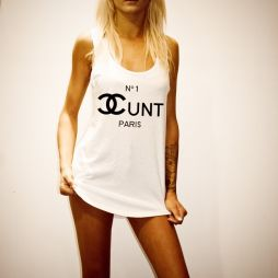 COCOCUNT WOMENS WHITE SINGLET