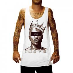 THE KING WHITE SINGLET