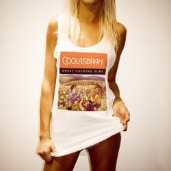 COOLASBRAH WOMENS WHITE SINGLET