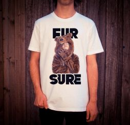 FUR SURE WHITE TEE