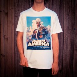 COMING TO AMERICA WHITE TEE