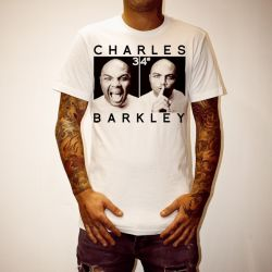 CHARLES BARKLEY WHITE TEE