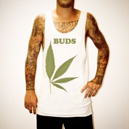 BUDS LEAF FUSION WHITE SINGLET