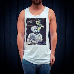 ALBERT EINSTEIN WHITE SINGLET
