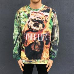 FULL PRINT EWOK THUG LIFE LIGHT SWEATER