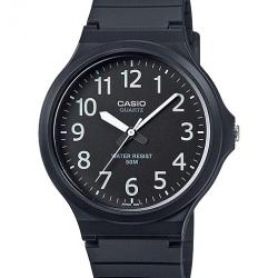 BLACK ANALOGUE RUBBER STRAP WATCH