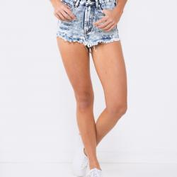 HOLLYWOOD HIGH BLUE DENIM SHORTS