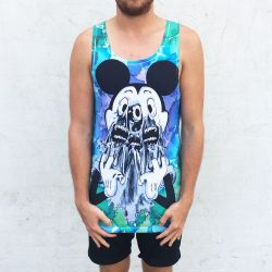 FULL PRINT FACE OFF SINGLET