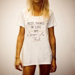 BEST THINGS IN LIFE WHITE TEE