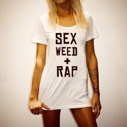 SEX WEED RAP WHITE TEE