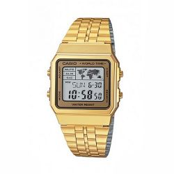 VINTAGE CASIO WORLD TIME GOLD