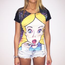 FULL PRINT ALICE LSD WOMENS T-SHIRT