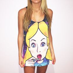 FULL PRINT ALICE LSD WOMENS SINGLET