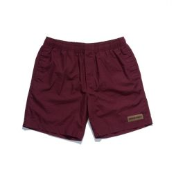 MAROON RECO BEACH SHORTS