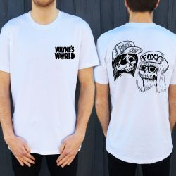 WAYNE'S WORLD FRONT AND BACK TEE