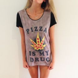 FULL PRINT PIZZA IS MY DRUG T-SHIRT