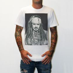 CAPTAIN JACK WHITE TEE