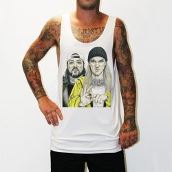 JAY AND SILENT BOB WHITE SINGLET