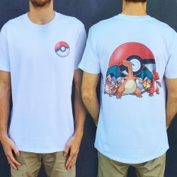 CHARIZARD EVOLUTION FRONT AND BACK TEE