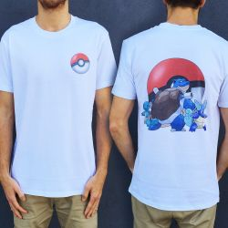 BLASTOISE EVOLUTION FRONT AND BACK TEE