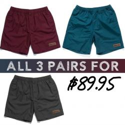 UNCLE RECO BEACH SHORTS 3 PACK COMBO