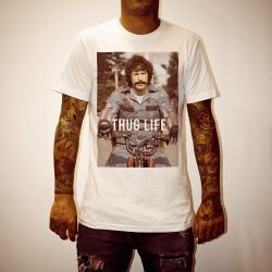 THUG HOT ROD WHITE TEE