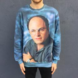 FULL PRINT BLUE COSTANZA CREW