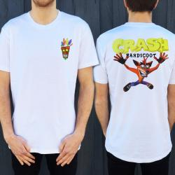 CRASH FRONT AND BACK WHITE TEE