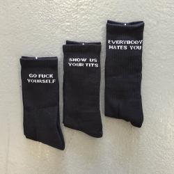 3-PACK BLACK SOCKS