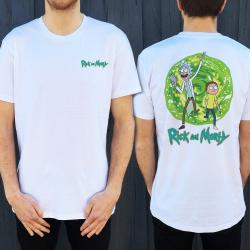 RICK AND MORTY FRONT AND BACK TEE