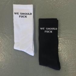 2 PACK WE SHOULD FUCK SOCKS