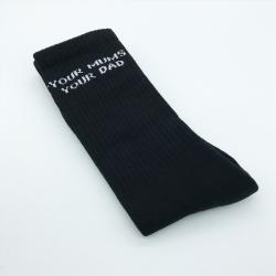 BLACK MUMS YOUR DAD SOCKS