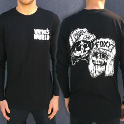 BLACK WAYNES WORLD LONGSLEEVE