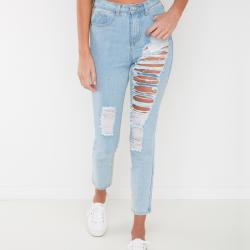 BAILEY BLUE MUM JEANS