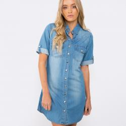 DAISY BLUE DENIM DRESS
