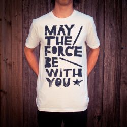 MAY THE FORCE BE WITH YOU WHITE TEE