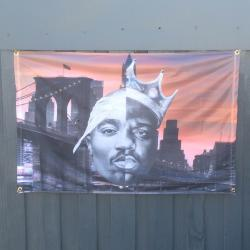 TUPAC/BIGGIE WALL HANGING 1200 X 800MM