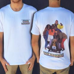 BOBSLED FRONT AND BACK WHITE TEE
